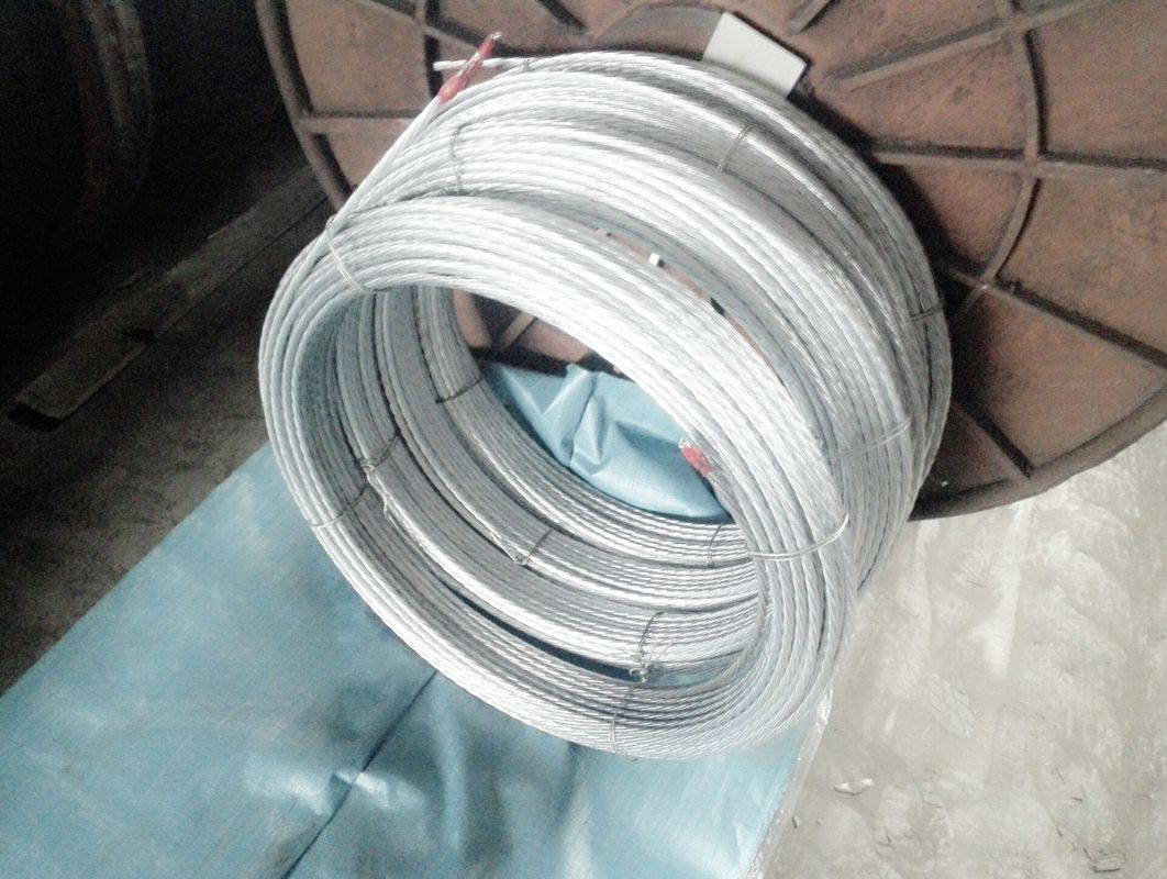 Durable Galvanised Steel Wire , Tower Guy Wire 900-1720 Mpa Tensile Strength